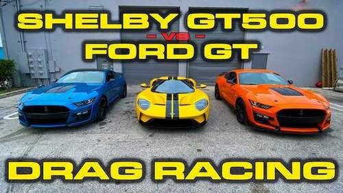 2020 Ford Mustang Shelby GT500 Drag Races Модель S Ворон